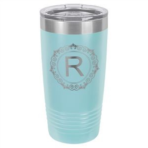20 oz. Matte Light Blue Ringneck Vacuum Insulated Tumbler w/Clear Lid
