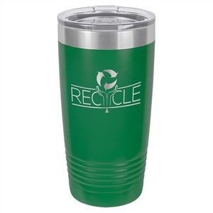 20 oz. Matte Green Ringneck Vacuum Insulated Tumbler w/Clear Lid